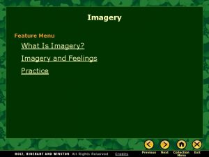 Imagery Feature Menu What Is Imagery Imagery and