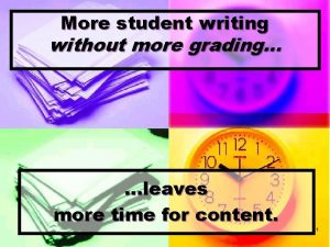 More student writing without more grading leaves more