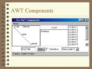 AWT Components Using AWT Components 4 Component Canvas
