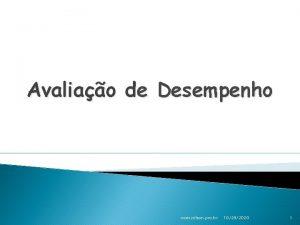 Avaliao de Desempenho www nilson pro br 10292020