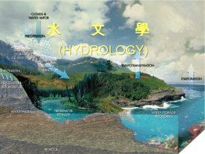 HYDROLOGY Hydrology Chapter 1 Hydrologic Cycle Hydrology 1