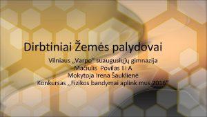 Dirbtiniai ems palydovai Vilniaus Varpo suaugusij gimnazija Maiulis