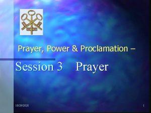 Prayer Power Proclamation Session 3 Prayer 10292020 1