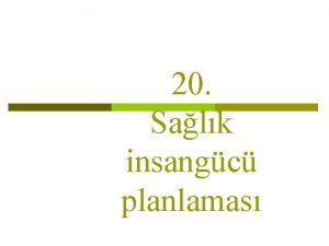 20 Salk insangc planlamas Ders plan Salk insangc