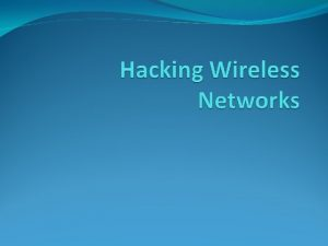 Technology wireless Describe equipment and technologies operating in