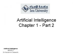Artificial Intelligence Chapter 1 Part 2 Artificial Intelligence