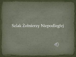 Szlak onierzy Niepodlegej JAN KELLER Jan Keller 25