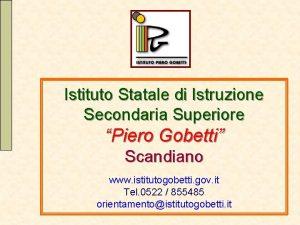 Istituto Statale di Istruzione Secondaria Superiore Piero Gobetti