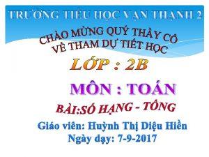 TRNG TIU HC VN THNH 2 Gio vin