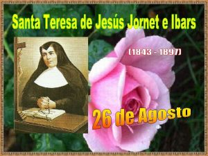 Santa Teresa de Jess Jornet naci en Aytona