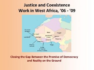 Justice and Coexistence Work in West Africa 06