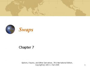 Swaps Chapter 7 Options Futures and Other Derivatives
