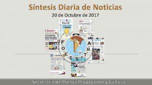 Sntesis Diaria de Noticias 20 de Octubre de