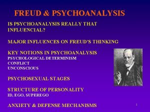 FREUD PSYCHOANALYSIS IS PSYCHOANALYSIS REALLY THAT INFLUENCIAL MAJOR