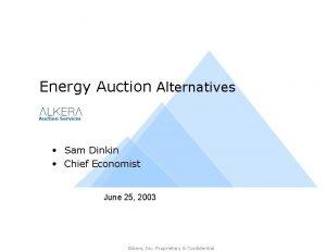 Energy Auction Alternatives Auction Services Sam Dinkin Chief
