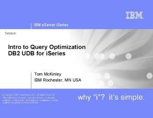 IBM e Server i Series Session Intro to