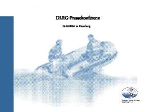 DLRGPressekonferenz 19 10 2004 in Hamburg DLRG Barometer