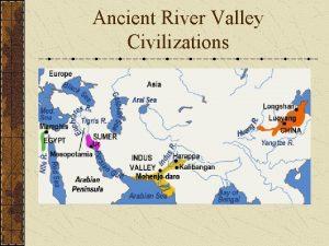 Ancient River Valley Civilizations Characteristics of Civilizations Cities