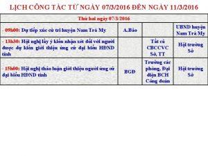 LCH CNG TC T NGY 0732016 N NGY