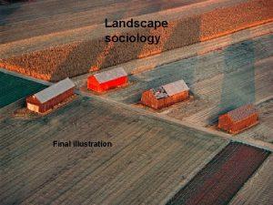 Landscape sociology Final illustration Landscapes in Landscape ecology