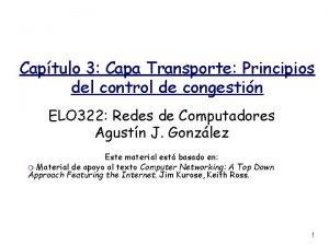 Captulo 3 Capa Transporte Principios del control de