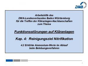 Arbeitshilfe des DWALandesverbandes Baden Wrttemberg fr die Treffen