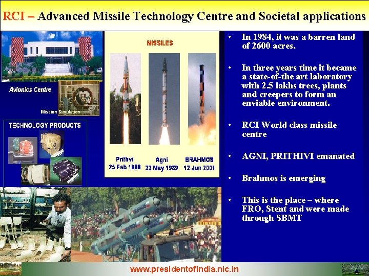 RCI Advanced Missile Technology Centre and Societal applications