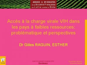 Accs la charge virale VIH dans les pays