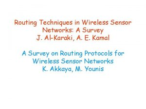 Routing Techniques in Wireless Sensor Networks A Survey