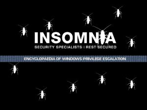ENCYCLOPAEDIA OF WINDOWS PRIVILEGE ESCALATION Linux Priv Esc