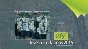 Sify Head Quarters Google earth view safe harbour