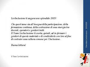 Buona lettura Il Team Lev Inclusione Newsletter Lev