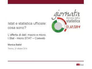 Istat e statistica ufficiale cosa sono Lofferta di
