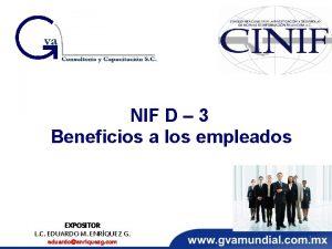 NIF D 3 Beneficios a los empleados EXPOSITOR