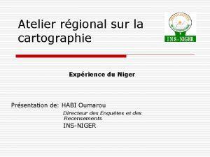 Atelier rgional sur la cartographie Exprience du Niger