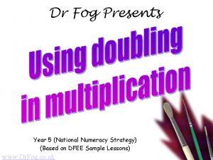 Dr Fog Presents Year 5 National Numeracy Strategy