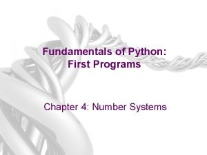 Fundamentals of Python First Programs Chapter 4 Number