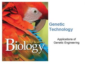 Lesson Overview Application of Genetic Engrineering Genetic Technology