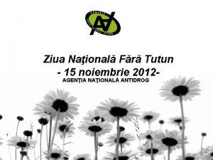 Ziua Naional Fr Tutun 15 noiembrie 2012 AGENIA