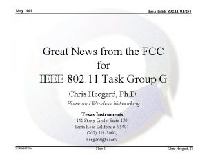 May 2001 doc IEEE 802 11 01254 Great