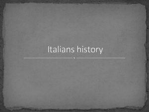 Italians history Greek Naples The foundation of Partenope