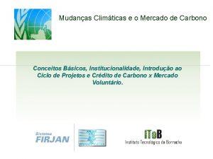Mudanas Climticas e o Mercado de Carbono Conceitos