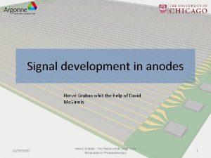 Signal development in anodes Herv Grabas whit the
