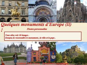 Quelques monuments dEurope II Photos personnelles Vous allez