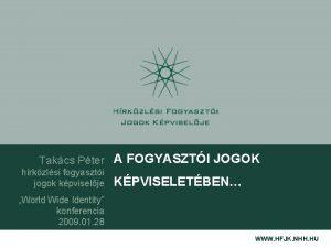 Takcs Pter A FOGYASZTI JOGOK hrkzlsi fogyaszti jogok