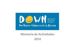 Memoria de Actividades 2014 SERVICIOS Y PROGRAMAS Servicio