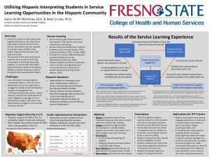 Utilizing Hispanic Interpreting Students in Service Learning Opportunities