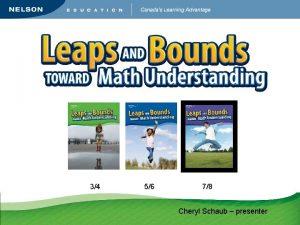 34 56 78 Cheryl Schaub presenter Struggling Students