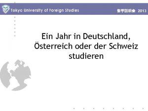 2013 Ein Jahr in Deutschland sterreich oder Schweiz