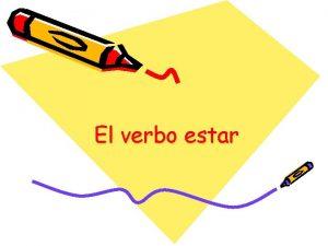 El verbo estar estar Estar means to be
